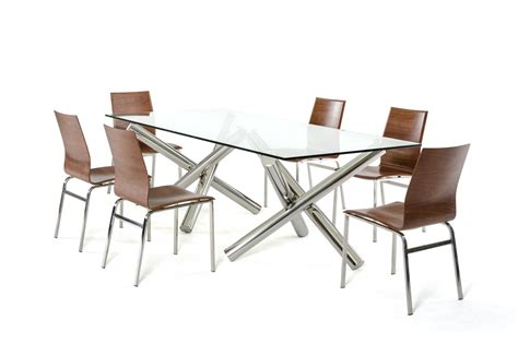 modrest quartz modern rectangular glass dining table