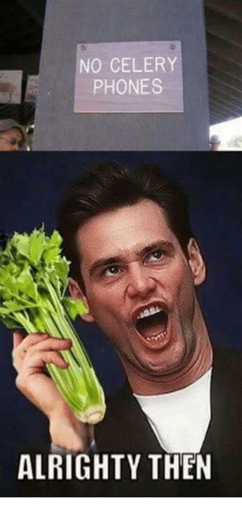 No Phone Meme - no celery phones alright y then meme on sizzle