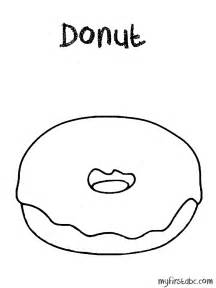 donut coloring page donut coloring page my abc