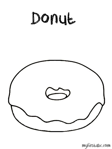 donut coloring pages to print coloring pages