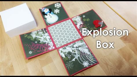 explosion box tutorial youtube tutorial explosion box template 4x4 quot youtube