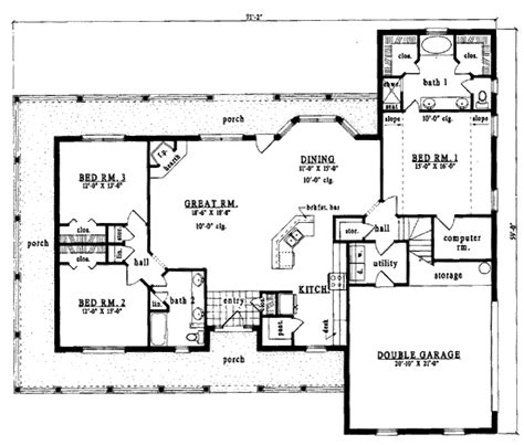 country style house plan 3 beds 2 baths 2075 sq ft plan