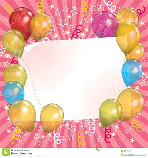 zelf l maken ballon de achtergrond van de uitnodiging van de ballon vector