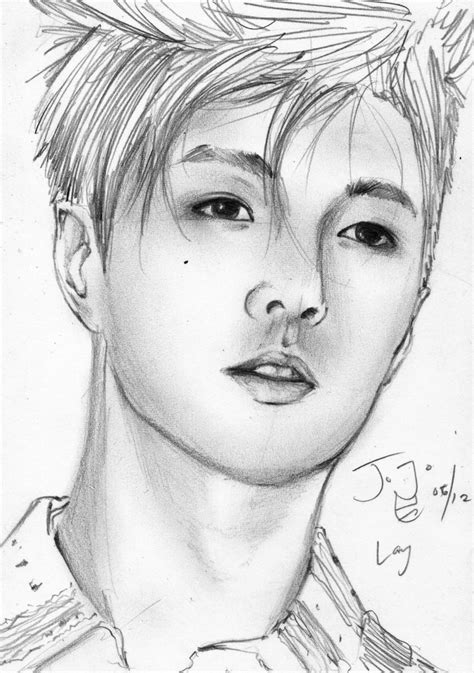 drawing pictures exo m lay pencil sketch by takojojo15 on deviantart