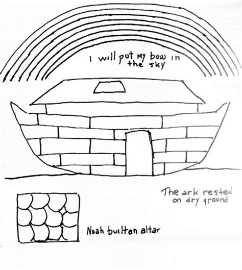coloring page noah s ark and rainbow coloring page for noah s ark free bible stories for children