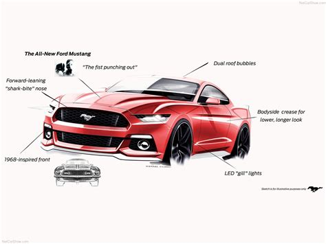 ford design in the 2015 ford mustang official design sketches hit the web autoevolution