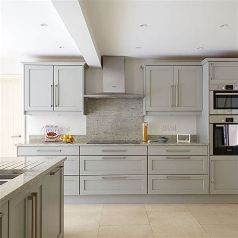 grey kitchen with flooring decorating ideal home