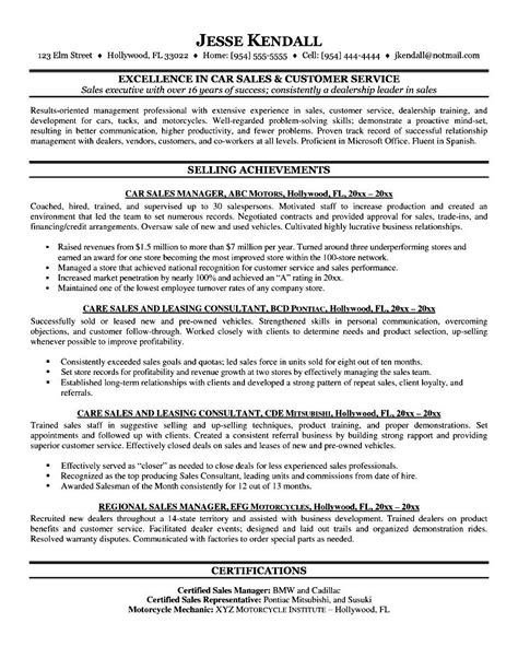 resume of a sle resume for service engineer in automobile