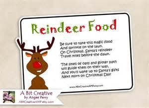 Of reindeer food poem printable labels reindeer food poem printable