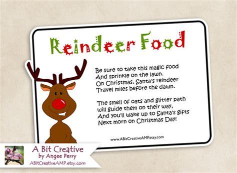 magic reindeer food poem template 5 best images of reindeer food poem printable labels