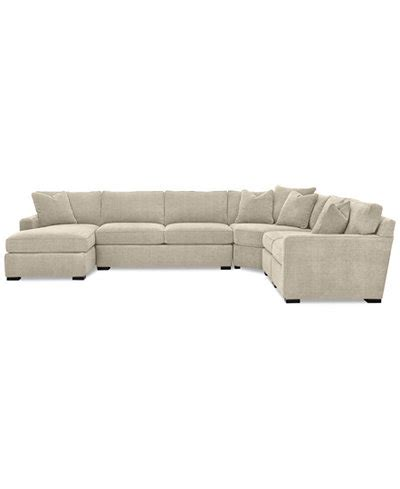 radley sectional reviews radley 5 piece fabric chaise sectional sofa created for