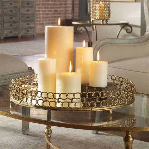 dipali gold leaf mirrored decorative tray uttermost
