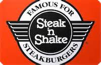 Steak And Shake Gift Card - buy steak n shake gift cards discounts up to 35 cardcash