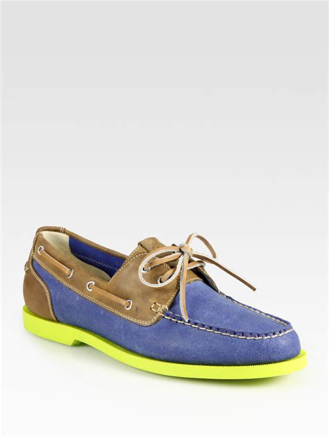 cole haan boat shoes cole haan air yacht club boat shoes in blue for lyst