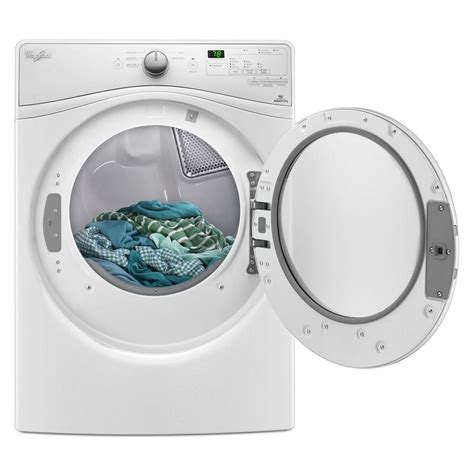 Where To Vent Gas Dryer - wgd7590fw whirlpool 7 4 cu ft vent gas dryer white