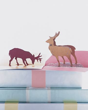 Reindeer Pop Up Card Template by Mirror Image Silhouette Cards Martha Stewart