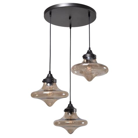 3 Light Pendant Lighting Kenroy Home Drop 3 Light Bronze Pendant 93486wbz The Home Depot