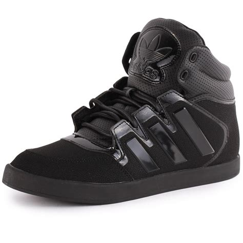 adidas dropstep mens synthetic leather black black