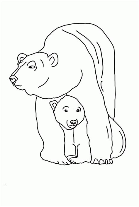 baby polar bear pages coloring pages