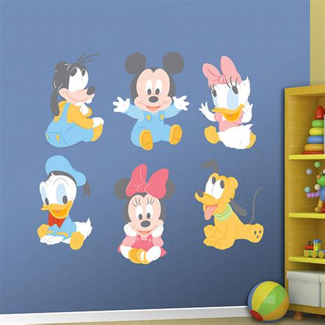 baby mickey mouse wall stickers baby mickey and friends fathead wall decal