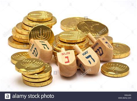 chanukah gelt chocolate coins chocolate gold coins with menorah embossed hanukkah gelt stock photo royalty free image