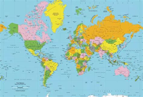 map of the united states to scale does the world map or globe shows united states larger