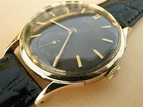 omega 14k gold with chocolate 1943 vintage watches