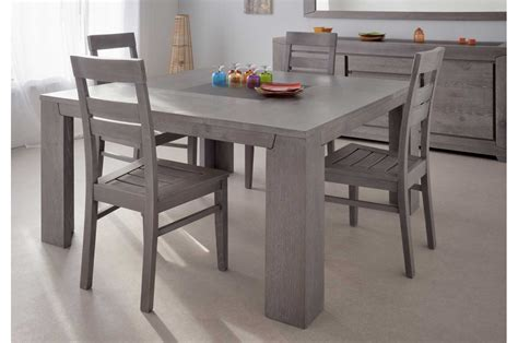 salle a manger complete grise table salle manger carree grise