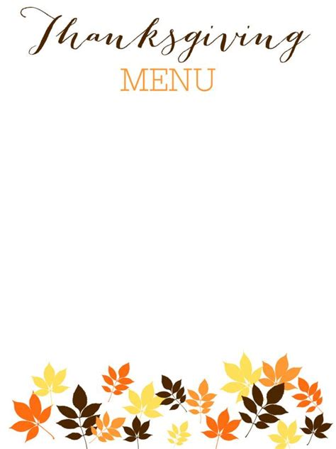 printable thanksgiving menu cards free thanksgiving templates 31 gift tags cards crafts