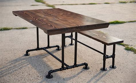 industrial pipe table legs solid wood industrial farmhouse table industrial pipe