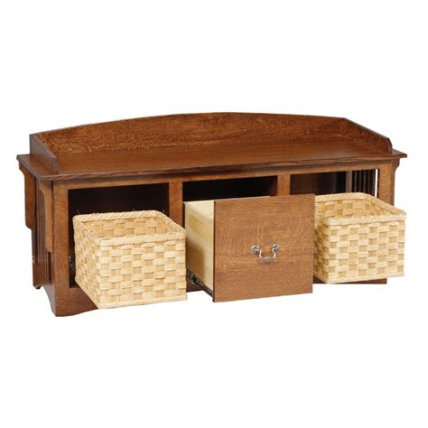 mission benches shoe bench with storage amish mission storage bench