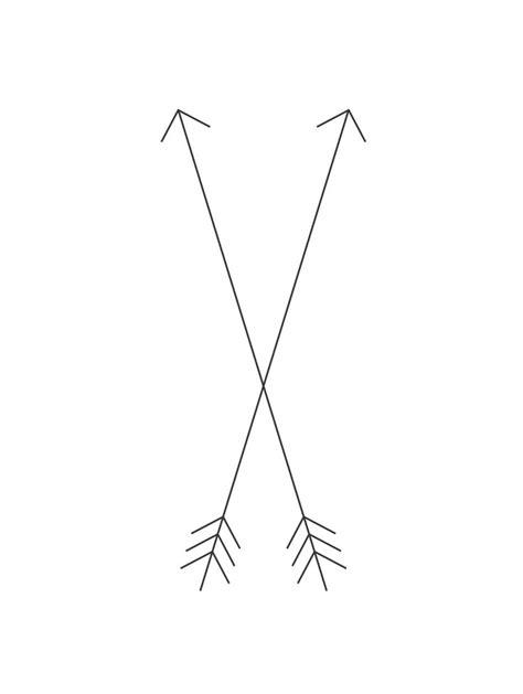 crossing arrow tattoo meaning crossed arrows friendship tattt sassy and