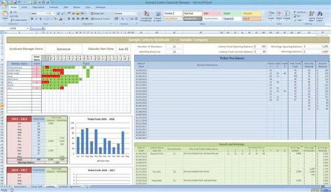 Australian Lottery Syndicate Tracker Excel Template By Templates4u Richard Storm Pinterest Ff E Excel Template