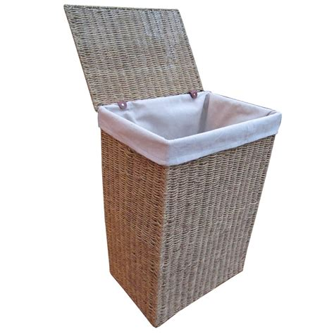 laundry basket buy seagrass laundry basket lined online from the basket