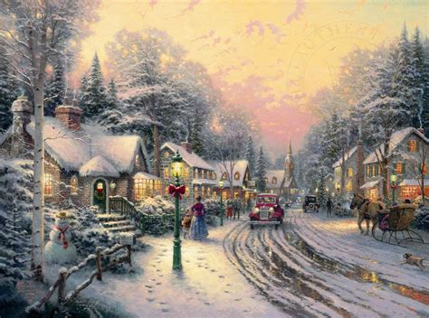 village christmas the thomas kinkade company