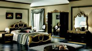 Black And Gold Bedroom Design Ideas Esf Furniture Aida King Panel Bed In Black W Gold And