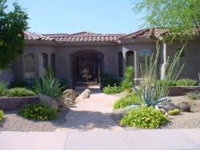 desert front yard landscaping xeriscaped front yard