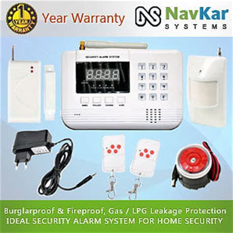 auto gsm based burglar alarm system for home