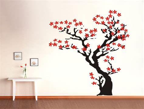 Cherry Blossom Tree Wall Decal For Nursery Some Easy Ideas To Make Diy Wall Decals Home Decor Trends