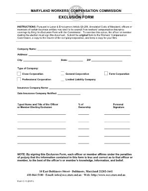 Workers Compensation Exemption Letter Articleezinedirectory Workers Compensation Letter Template