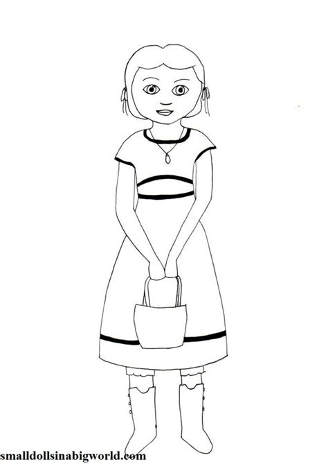Isabelle American Doll Coloring Pages American Coloring Pages Isabelle Printable