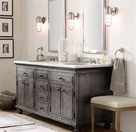 distressed bathroom cabinet 32 trendy and chic industrial bathroom vanity ideas digsdigs