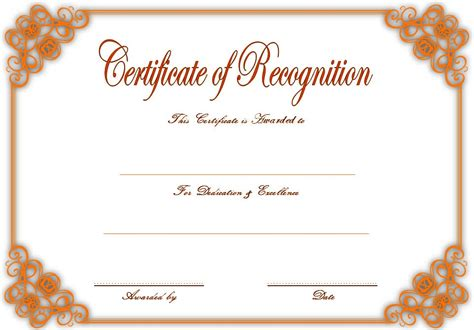 free template for certificate of recognition certificate of recognition template 5 best 10 templates