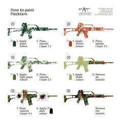 Lackieren Pistole Anleitung by How To Paint Sitka Guns Pinterest Lackieren