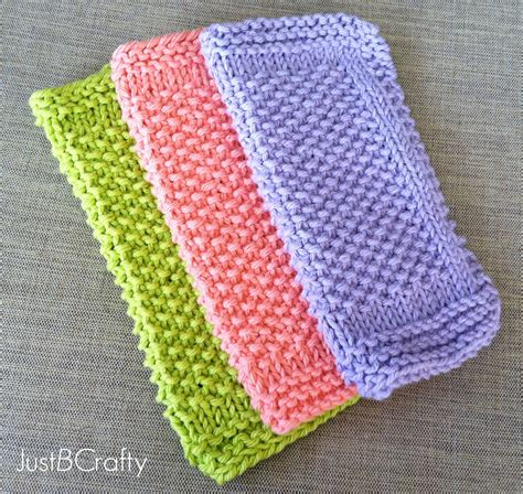 knitted dishcloths seed stitch dishcloths just be crafty