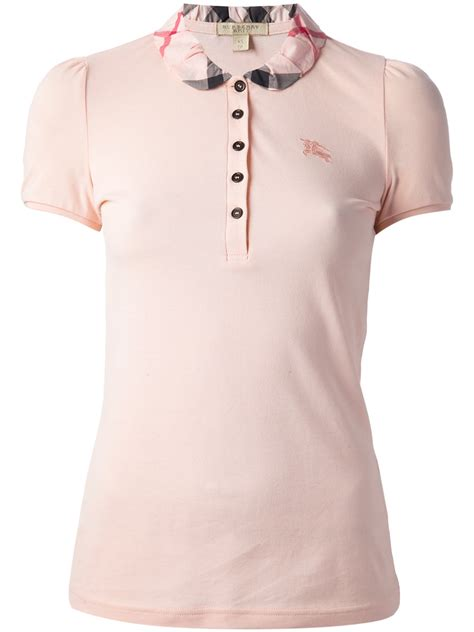 Polo Shirt Burberry Brit Premium Pspb Burberry 5 burberry brit check detail polo shirt in pink lyst
