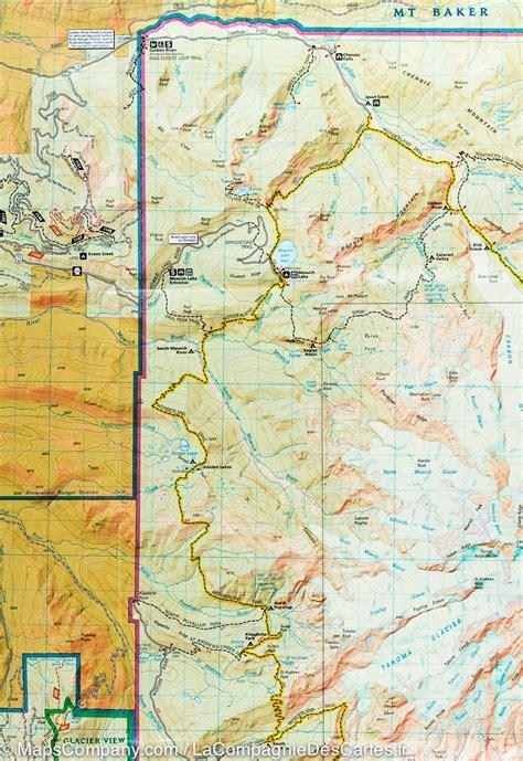 mt rainier national park map trail map of mount rainier national park washington