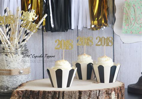 new years 2018 party favors new year s decorations 2018 number cupcake toppers