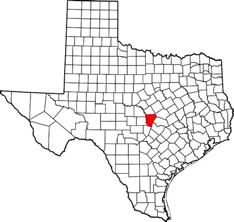 burnet county texas map file map of texas highlighting burnet county svg wikimedia commons