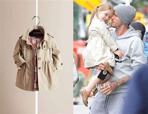 In Beckhams Closet Lwren by Beckham S Burberry Skirted Cotton Twill Trench Coat